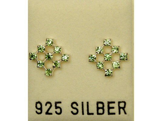 Ohrstecker mit Swarovski-Elements, peridot