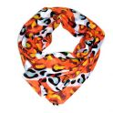 Loopschal mit Animalprint,orange
